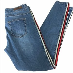 Yest Side Stripe Skinny Jeans, Size 10 (fit small)